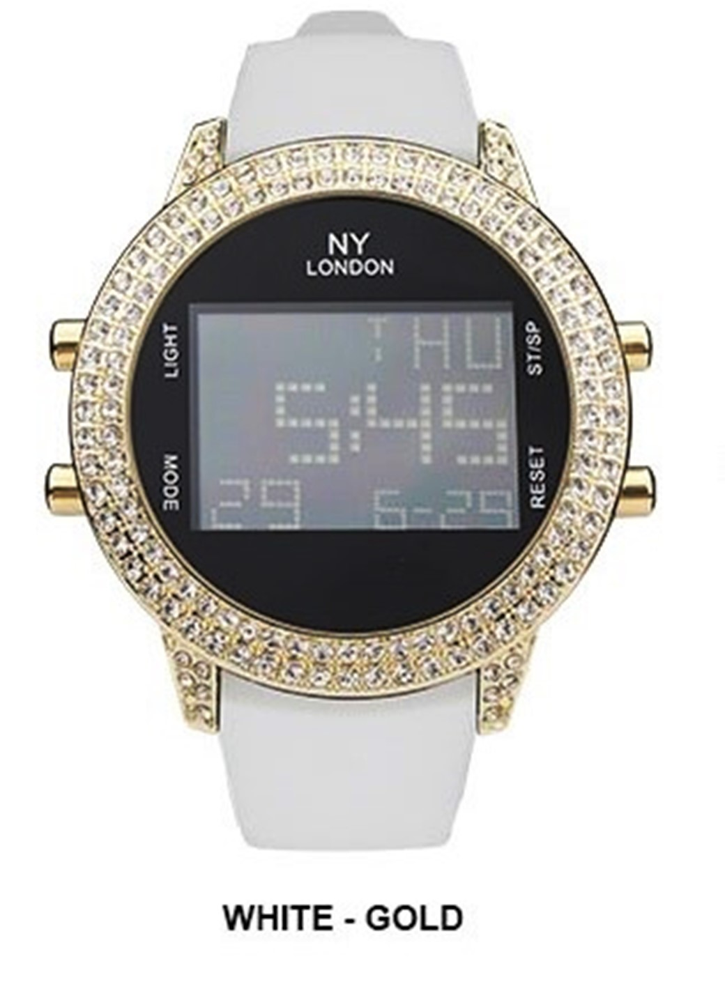 NY London Digital CZ Dial with Fancy Band Watch