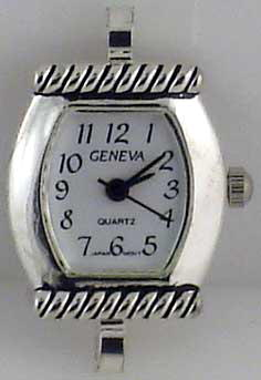 Geneva 22mm Silver tone big hole Face