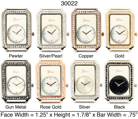 Women's 36mm Rhinestone interchangeable Bracelet Watch