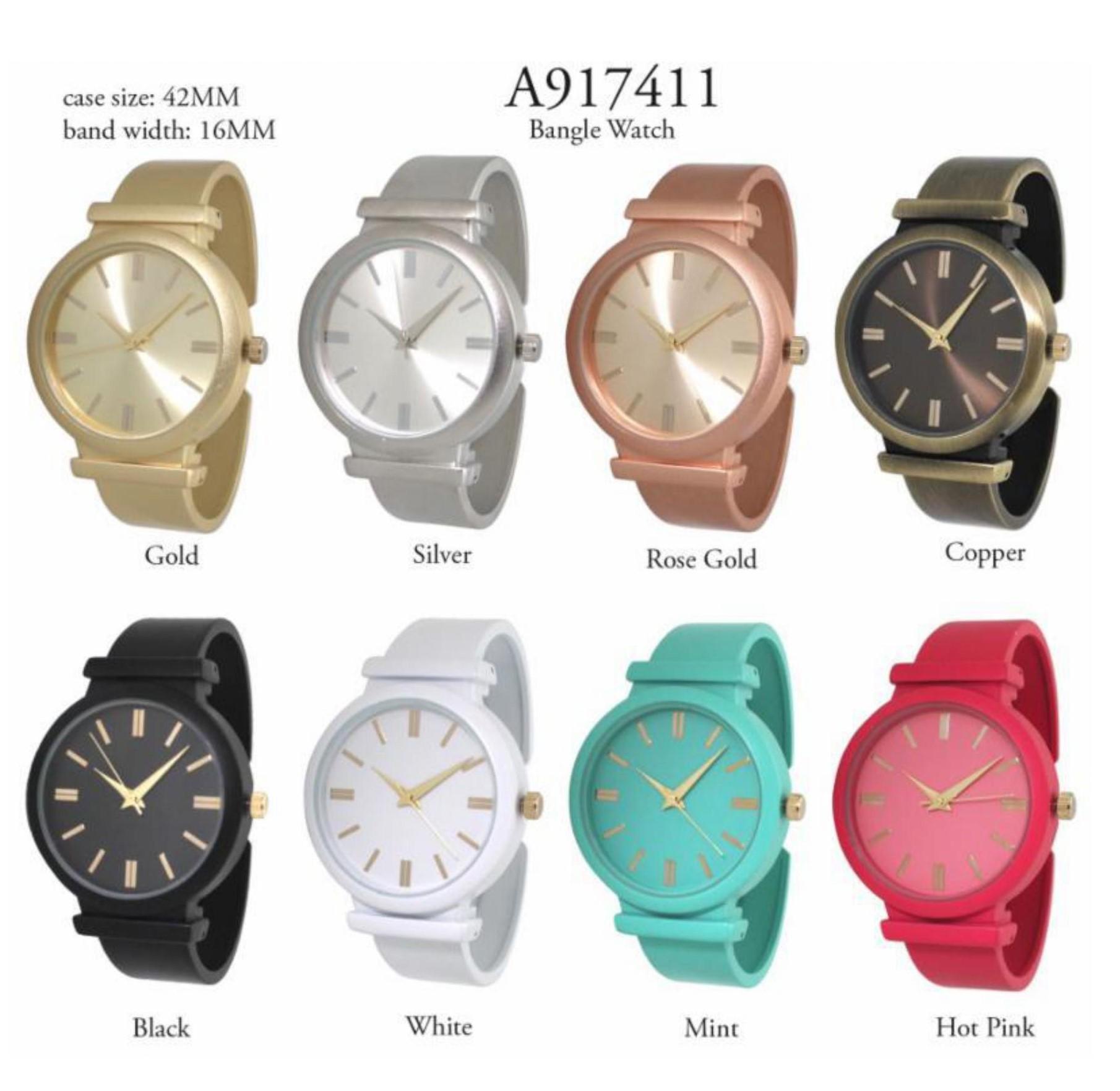 Women's 42mm Round Dial cuff Style Watch