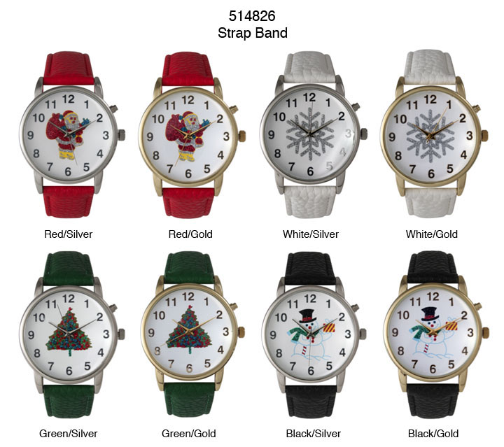NEW Women's Christmas Watch With Beautiful printed Dial
