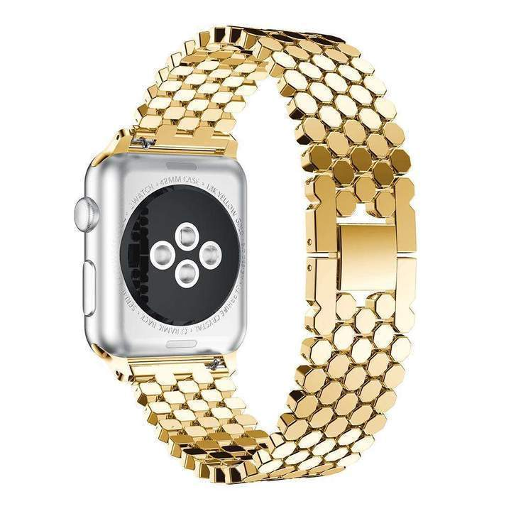 NEW Women's Apple Watch with 42mm CZ Dial and Stainless Steal Band