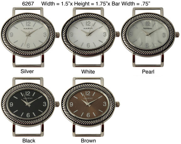 Women's 34mm oval Shape Interchangeable Bracelet Watch