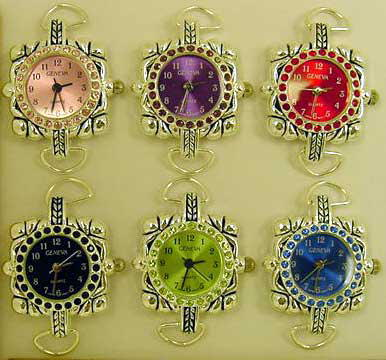 Watches Faces with Color Rhinestone Case & Matching Dial