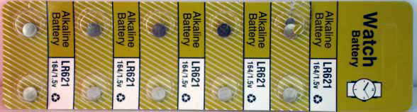 10 Alkaline Watch Batteries (LR621)