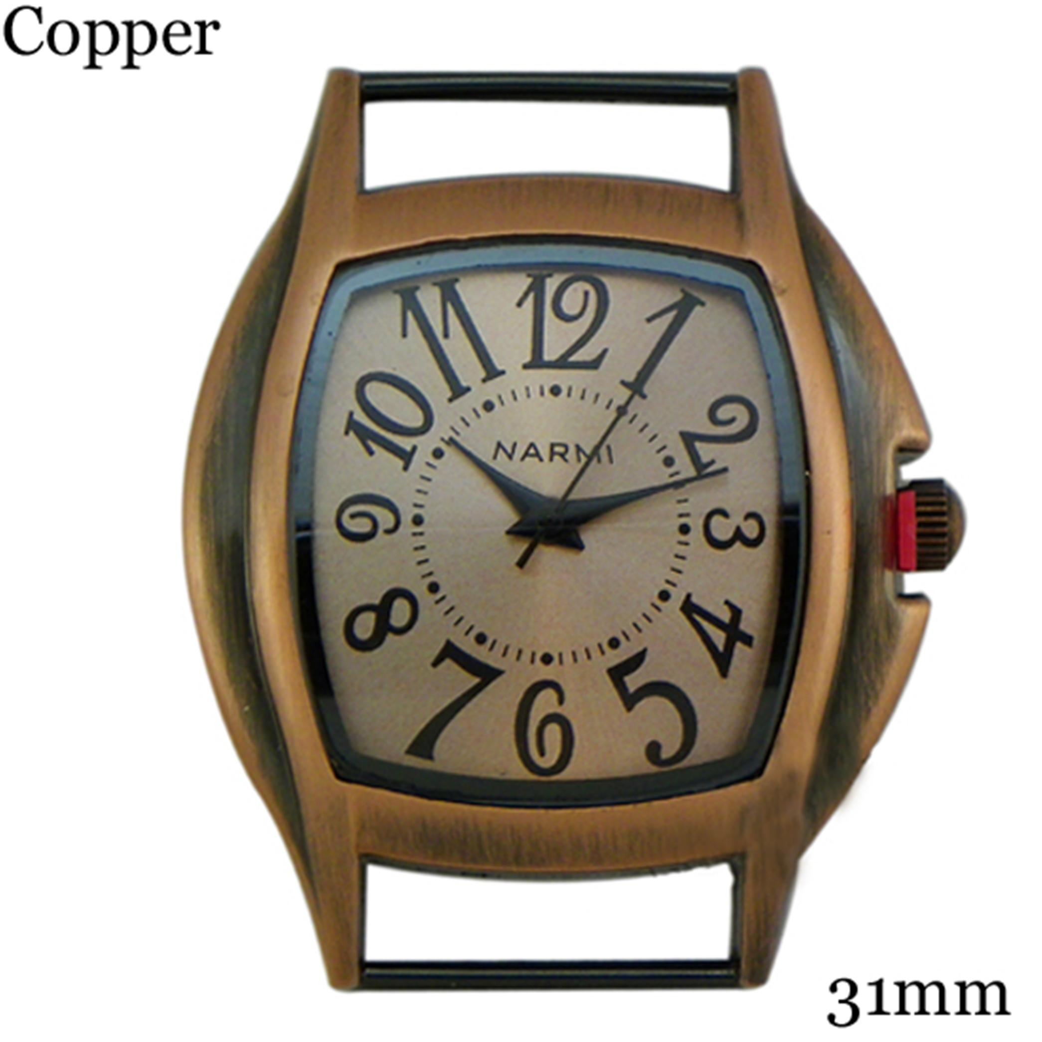 Solid Bar CZ Ribbon Watch Face
