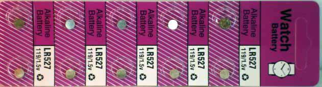 10 Alkaline Watch Batteries (LR527)
