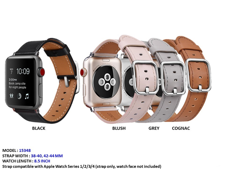 NEW Women's Apple 38/42mm  Leather CZ Band