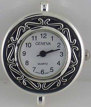 Geneva 20mm Round Dial Silver tone big hole Face