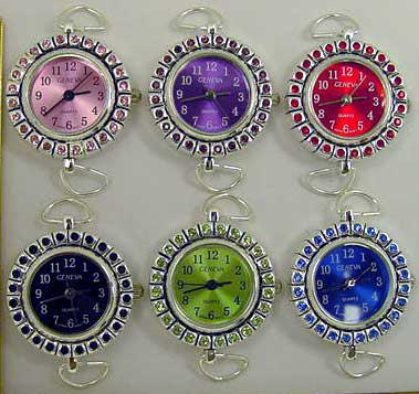 Round Watch Faces with Rhinestone Case & Matching Dial