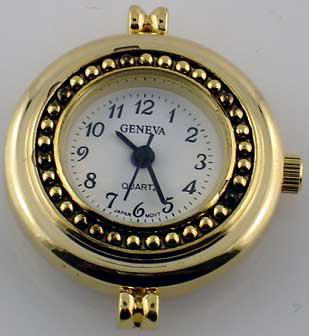 Geneva 22mm Round gold watch face