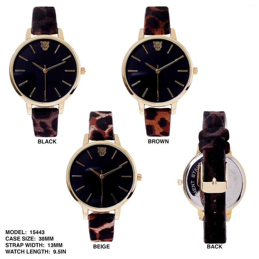 Ladies 38mm Round dial and Fancy Leather Band Watch