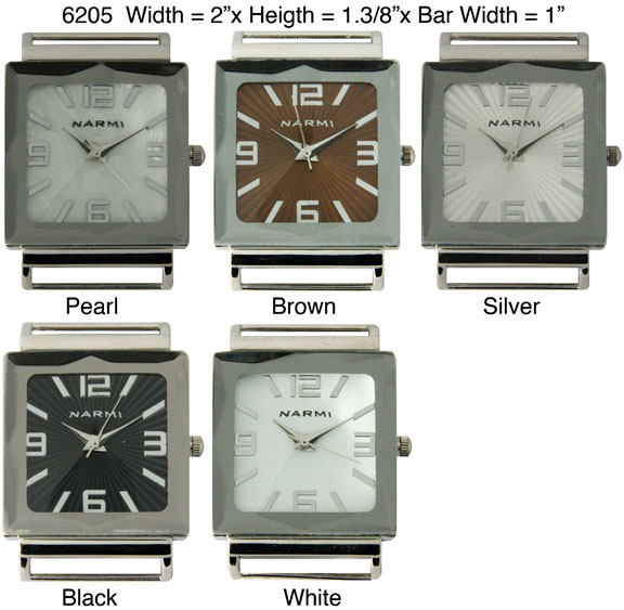 Pyramid Cut Glass Solid Bar Ribbon Watch Faces