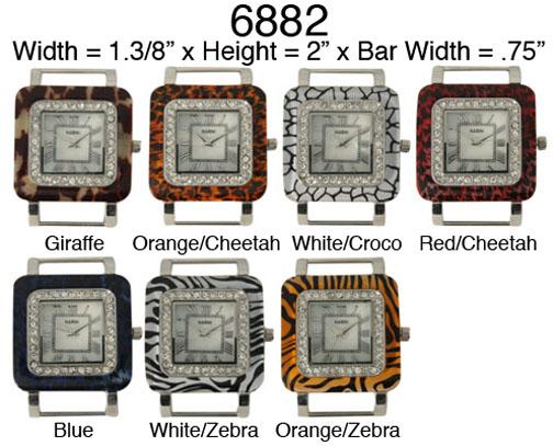 Narmi Solid Bar Watch Faces /W Rhinestones
