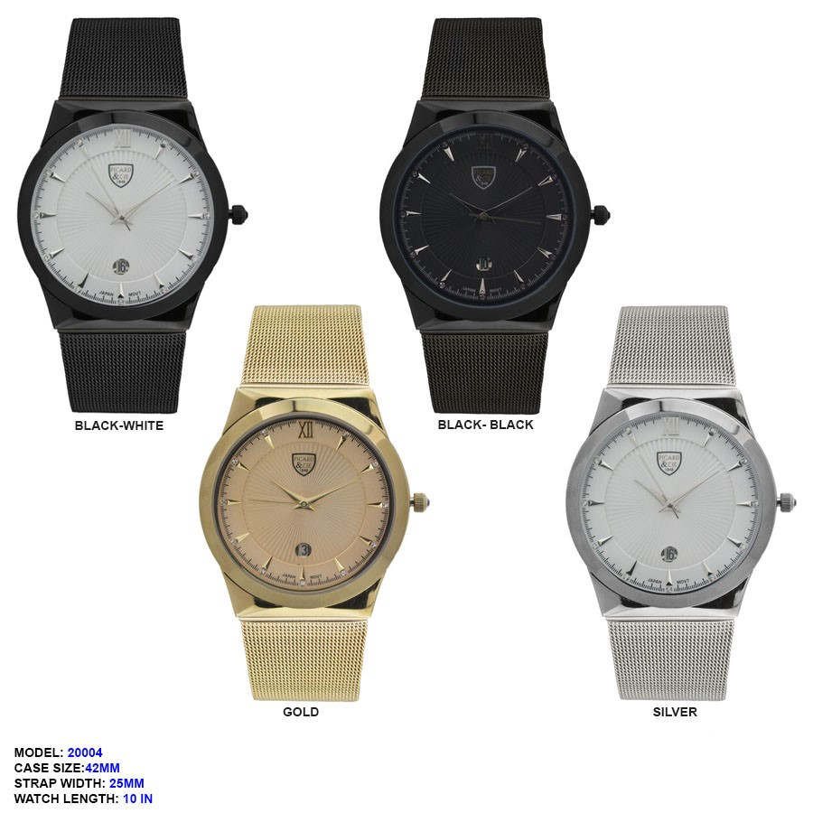 New Men's Mesh Strap Band with 42mm Fancy Dial