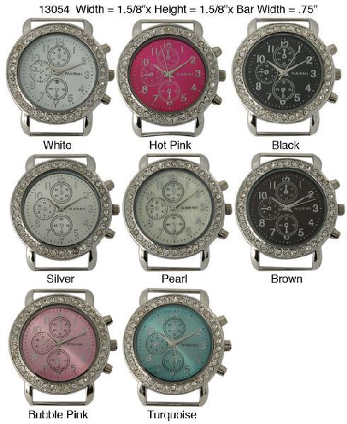 Geneva 28mm Round 3 Eye Chronograph Fancy Dial
