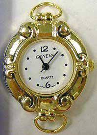 Geneva 22mm Round Gold tone with Loop Watch Face