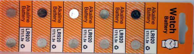 10 Alkaline Watch Batteries (LR920)