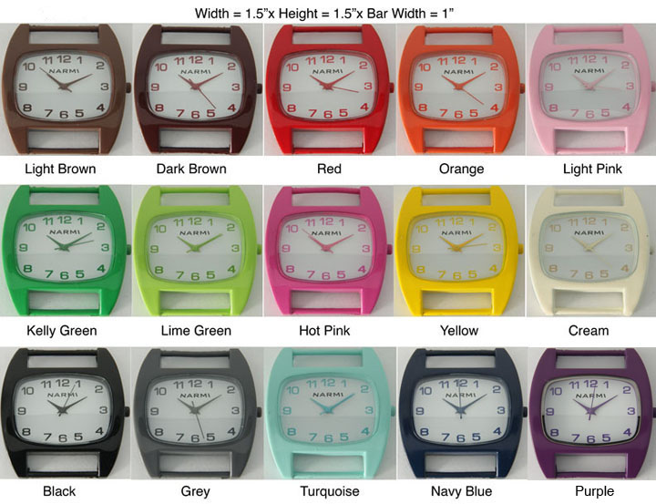New Women's Geneva Solid Bar Painted Watch Face