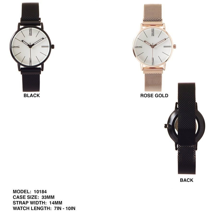 New Women's 33mm face Dial with Mesh Strap Band