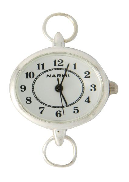 Narmi Silver Tone Large Watch Face