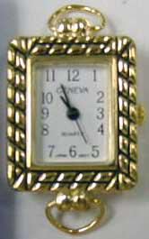 Geneva Square 22mm Gold tone with Loop Watch Face