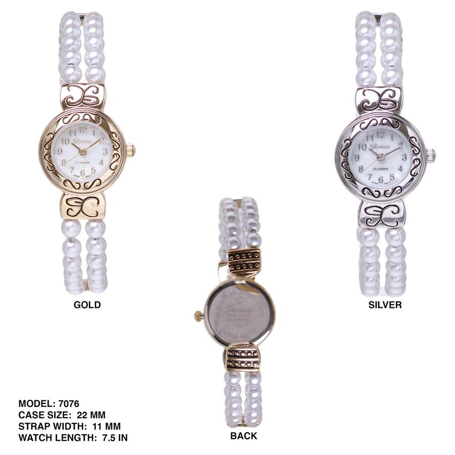New Womens Beaded Style 22MM Bangle Watch