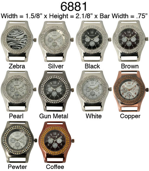 Narmi 40mm Solid Bar with Rhinestone watch Face