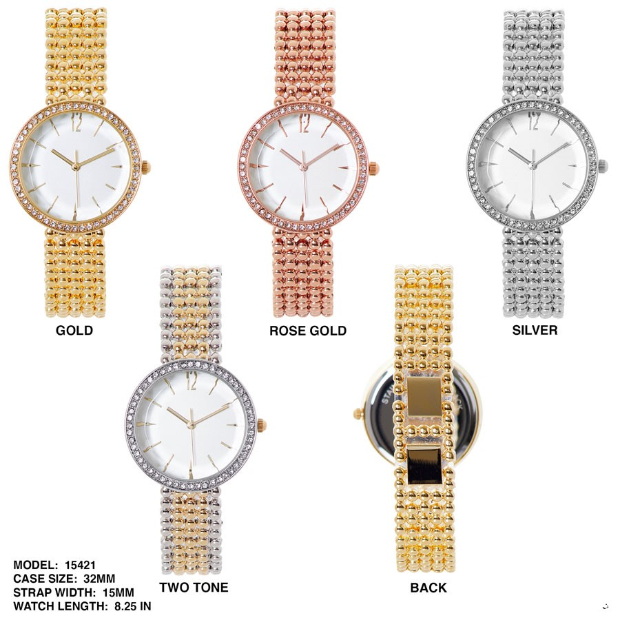 NEW Women's 32mm Round CZ Dial with stylish Band
