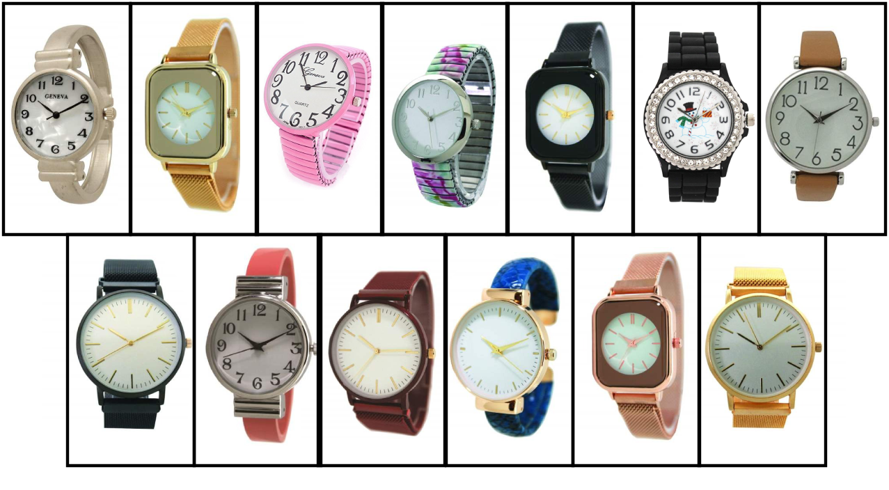 New Women's 10 Cuff Style Watches