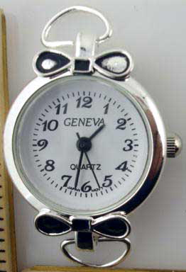 Geneva 22mm Round Fancy Face Watch