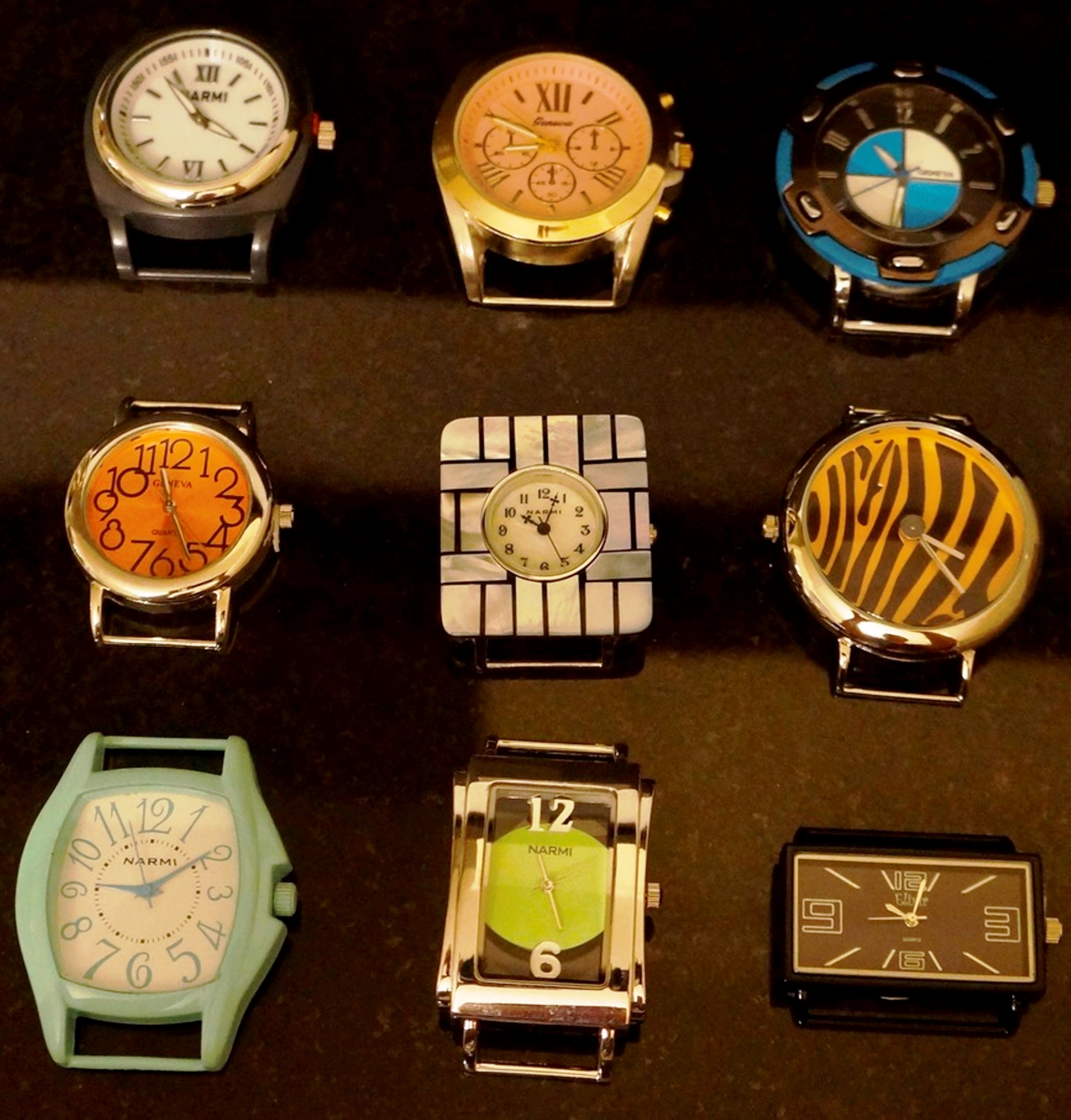 New 5 Ladies Solid Bar Watch Face for jewelry Making