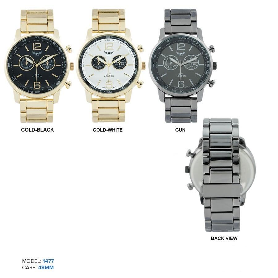 New Men's 48mm 2 eye Chronograph Dial watch