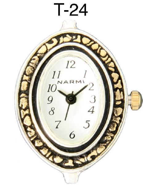 Narmi Oval Shape Two tone beading watch face