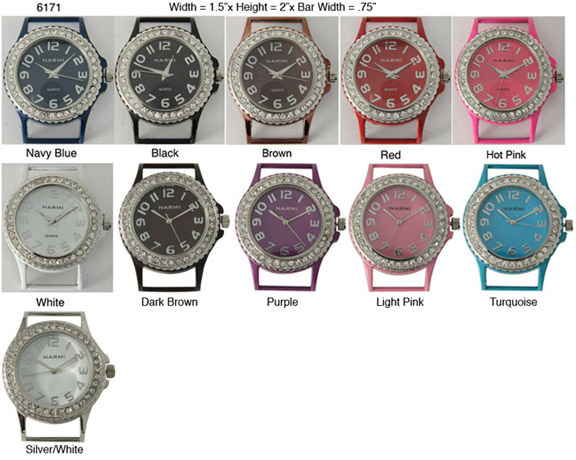 Narmi 22mm Colorful Solid Bar Watch Face