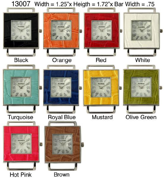 Women's 34mm Square Solid Bar Interchangeable Bracelet Watch