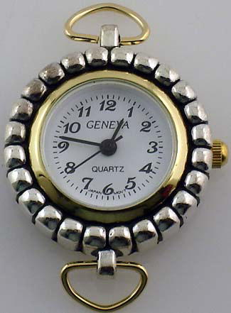 Geneva 22mm Round Two tone with Loop Watch Face