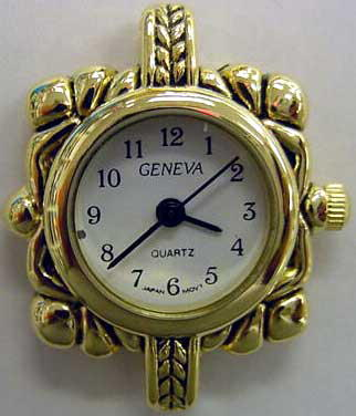 Geneva 24mm Round gold tone watch faces