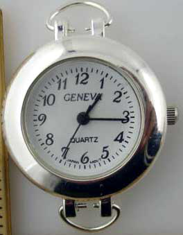 Geneva 20mm Round Dial Silver Tone lope Face