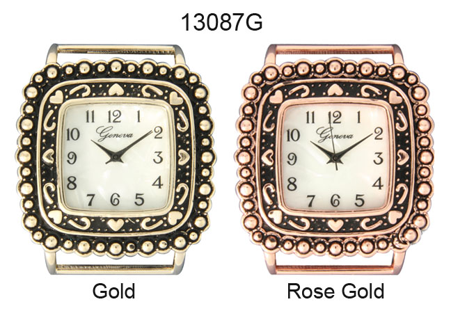 Geneva 24mm Square shape solid Bar Watch Face