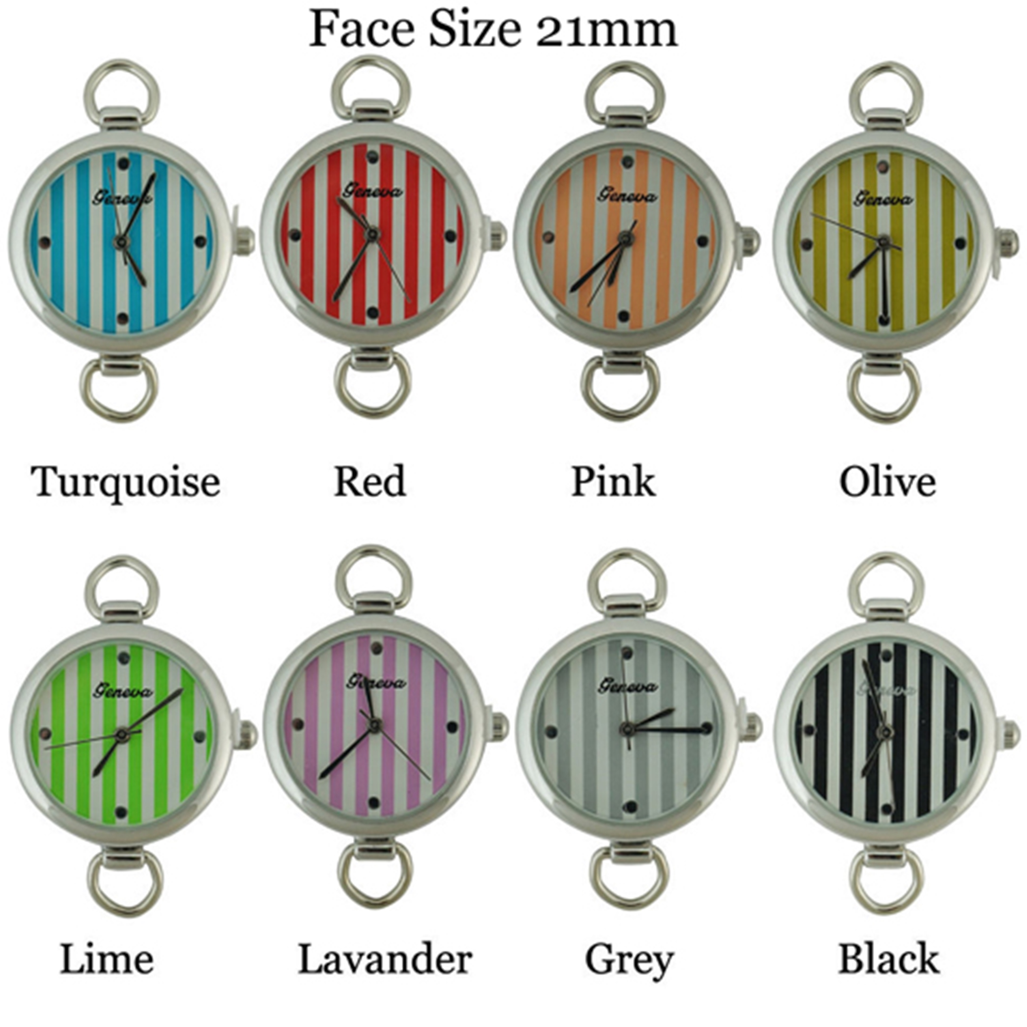 Women's 24mm Circle Dail with Color full Line Face