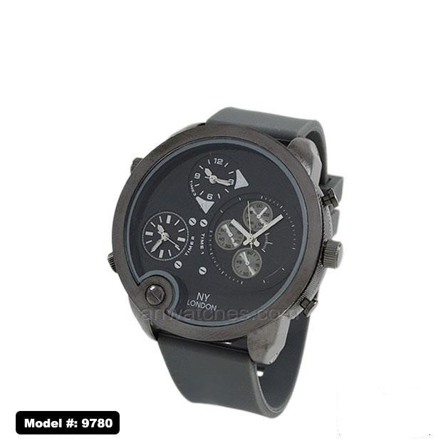 Men's Fancy 3 eye Chronograph Dial with Rubber Band