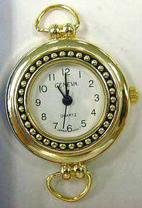 Geneva 24mm Round gold color Loop Face