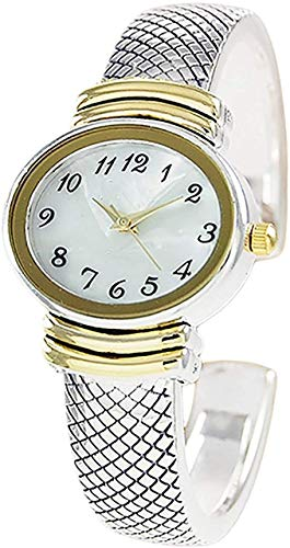 Ewatchwholsale-Ladies Elegant Snakeskin Style Metal Bangle Cuff Fashion Watch QRTZ