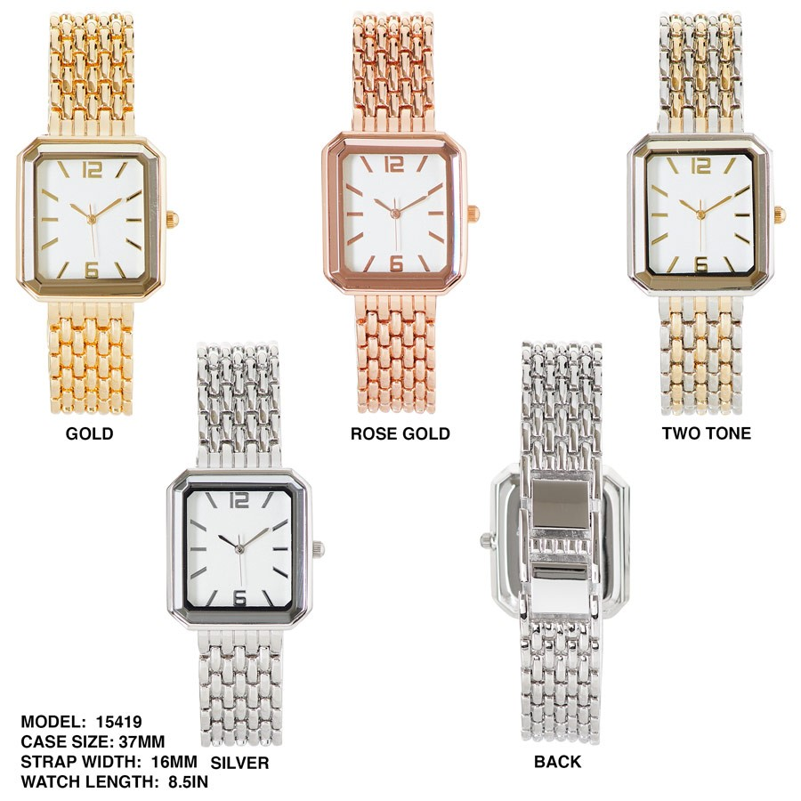 New Women's Square Dial Watch with Stainless Steal Strap