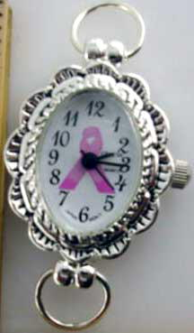 Geneva 34mm Oval shape Breast Cancer awareness Face