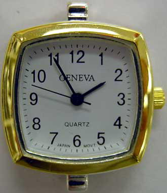 Geneva 22mm Square Two tone beading watch faces