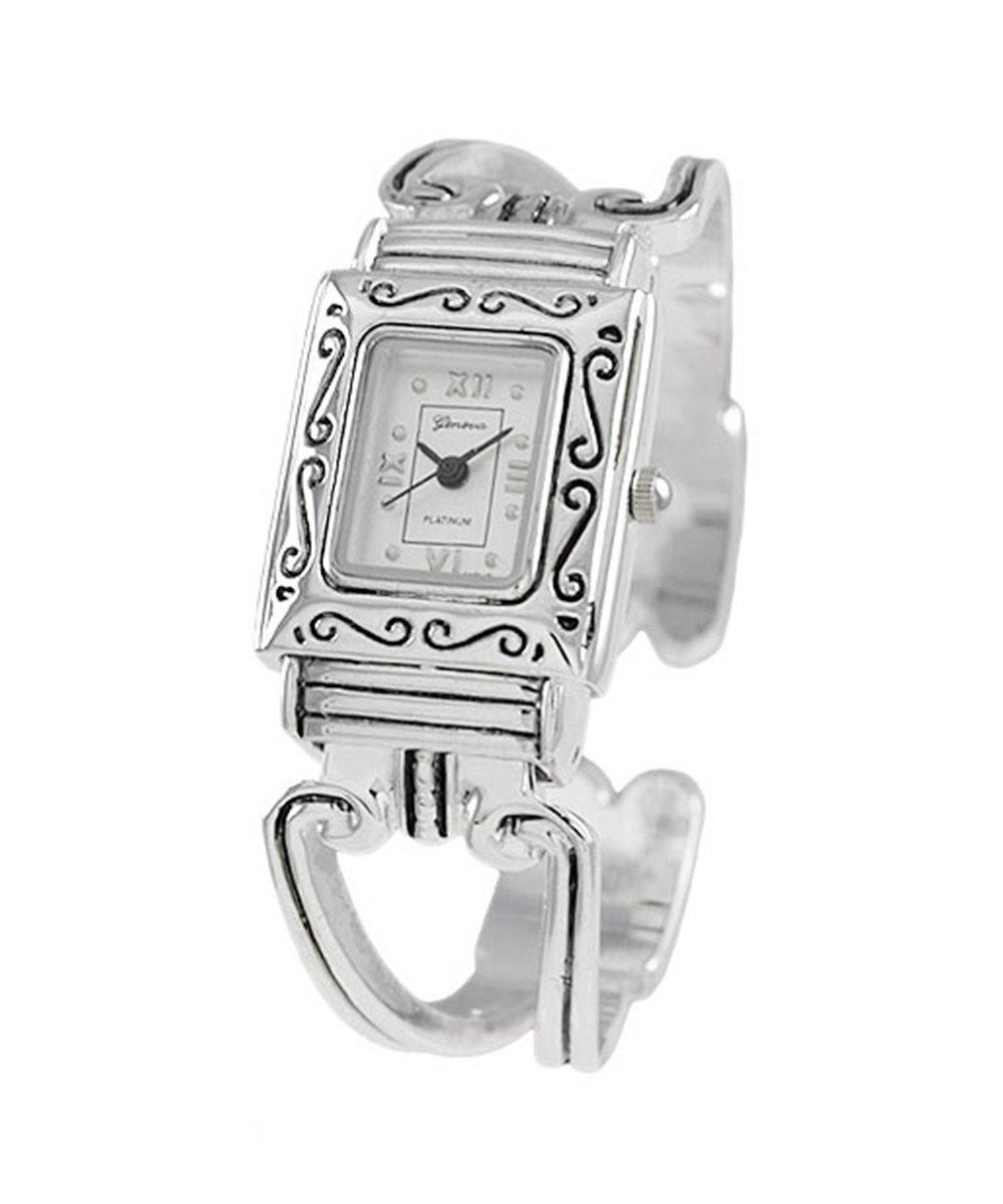 Ewatchwholsale-Women's silver cuff bangle watch