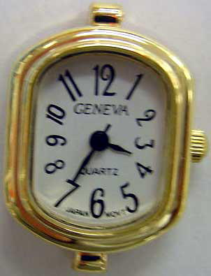 geneva Gold tone watch face