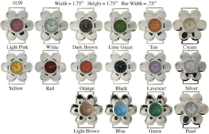 Women's 30mm Flower Shape Interchangeable Bracelet Watch